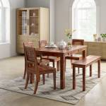 Flipkart Perfect Homes PureWood Sheesham 6 Seater Dining Set with Bench
