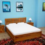 Home Edge Aelinia Sheesham Hydraulic Solid Wood King Hydraulic Bed