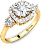 Candere by Kalyan Jewellers Miracle Plate Collection 18kt Diamond Yellow Gold ring