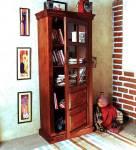 Balaji Solid Wood Close Book Shelf