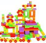 KLUZIE 100 Pcs Building Blocks,Creative Learning Educational Toy For Kids Puzzle Assembling Shape Building Unbreakable Toy Set