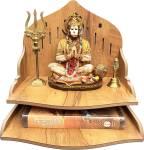 7CR Geeta Prime Temple (Mango) Engineered Wood Home Temple