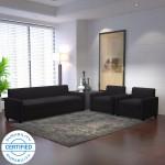 dolphin solitaire fabric 3 + 1 + 1 black sofa set