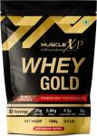 MUSCLEXp Whey Gold Protein – With Digestive Enzymes, Double Chocolate – Pouch Whey Protein