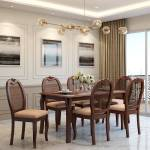 Durian Trafford Brown Solid Wood 6 Seater Dining Set