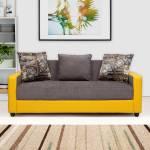 Evok Regal Fabric 3 Seater  Sofa