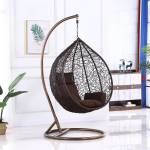 Furniture Kart Swing Chair Jhula Brown Steel Large Swing
