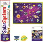 Clever Kids EDUCATIONAL SOLAR SYSTEM ACTIVITY MAT WITH AN INFORMATION GUIDE BOOKLET AND EVA CUTOUTS FOR KIDS A PERFECT KIT TO LEARN ABOUT SPACE