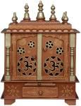 kamdhenu art and craft Solid Wood Home Temple