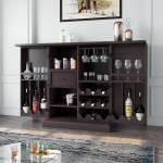 Flipkart Perfect Homes Solid Wood Bar Cabinet