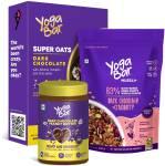 Yogabar Chocolatey Breakfast Combo | Dark Chocolate Muesli 400g | Dark Chocolate Oats 400g | Dark Chocolate Peanut Butter 400g Combo