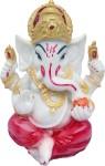 art n hub god ganesh / ganpati / lord ganesha idol - statue gift item decorative showpiece  -  9.5 cm(earthenware, red)