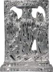 art n hub ram darbar / lord rama ,sita, laxman and hanuman idol god statue decorative showpiece  -  10 cm(aluminium, silver)