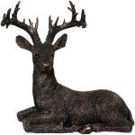 art n hub fengshui luck symbol deer animal statue interior décor gift item decorative showpiece  -  38 cm(earthenware, multicolor)