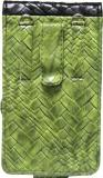 JoJo Pouch for Micromax A113 Canvas Ego (Green, Black, Artificial Leather)