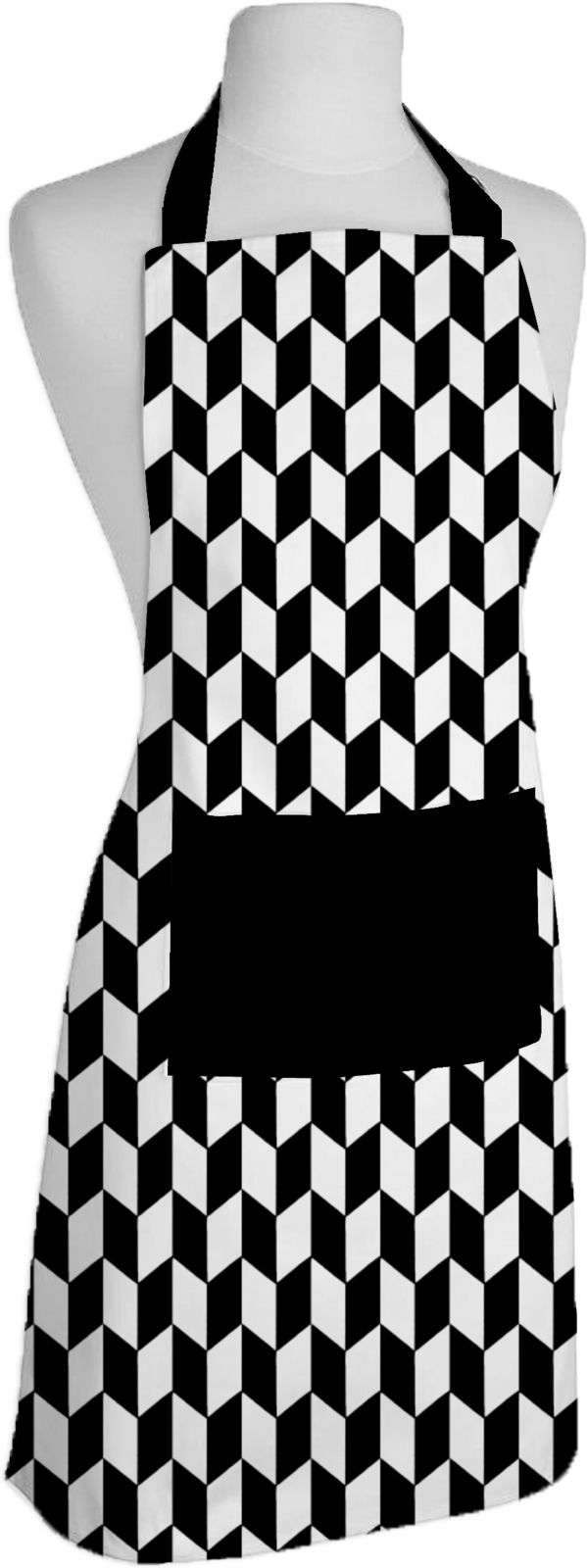 Airwill Cotton Home Use Apron - Free Size (Black, White, Single Piece)