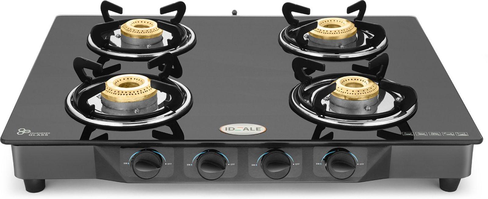 Ideale Quatre Steel Manual Gas Stove (4 Burners)