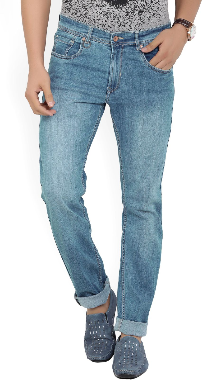 Peter England University Slim Men's Blue Jeans