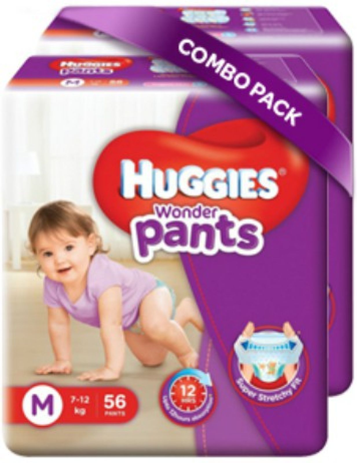 Huggies Wonder Pants Medium Size Diapers - M  (112 Pieces)
