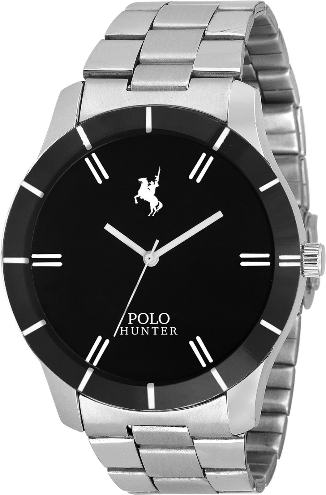 POLO HUNTER PH-7007-CH-G AWESOME BLACK DAIL Watch - For Men