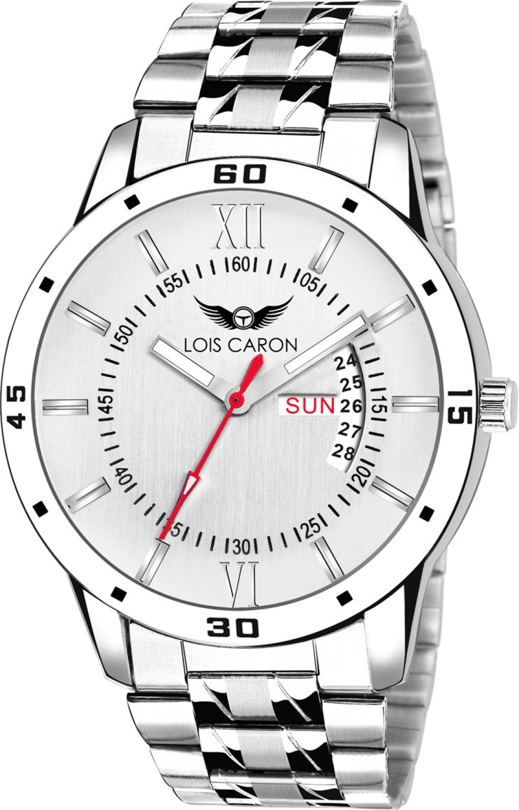 Lois Caron LCS-8011 DAY AND DATE FUNCTIONING Watch - For Men