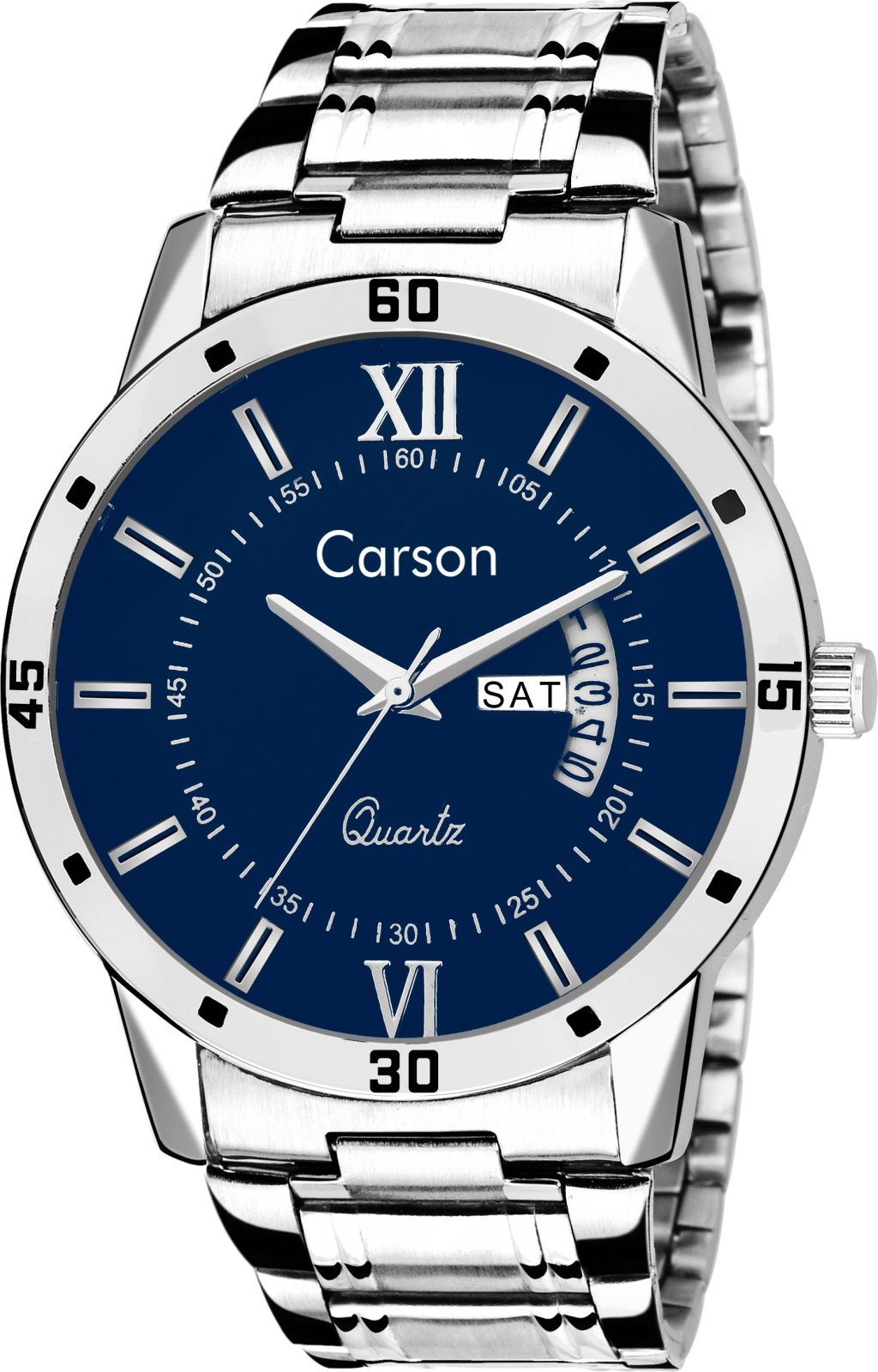 Carson CR9008 Day-n-Date Congruence Watch - For Men