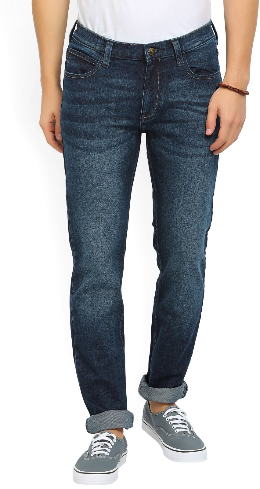 Lee Skinny Mens Dark Blue Jeans