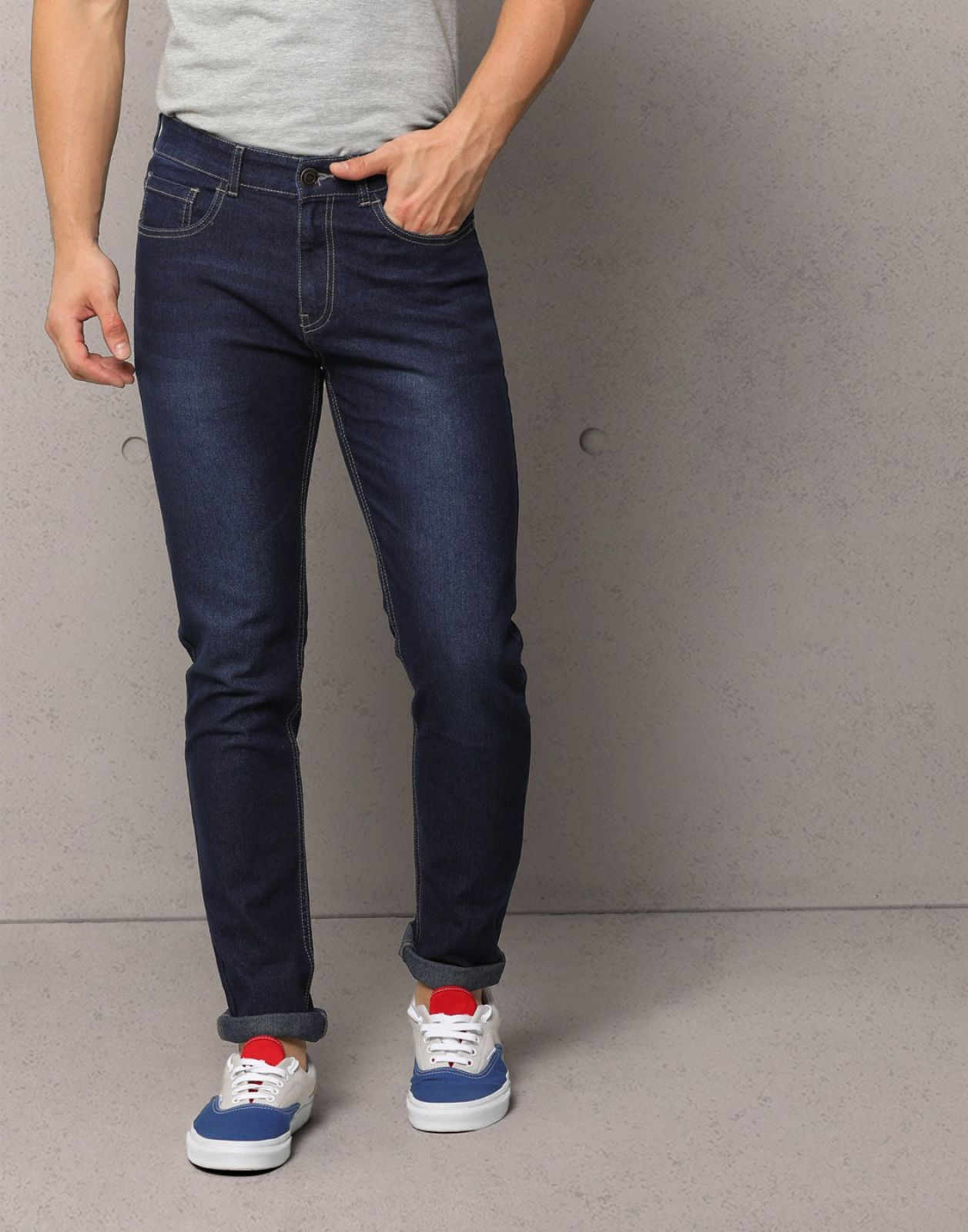 Metronaut Skinny Mens Dark Blue Jeans