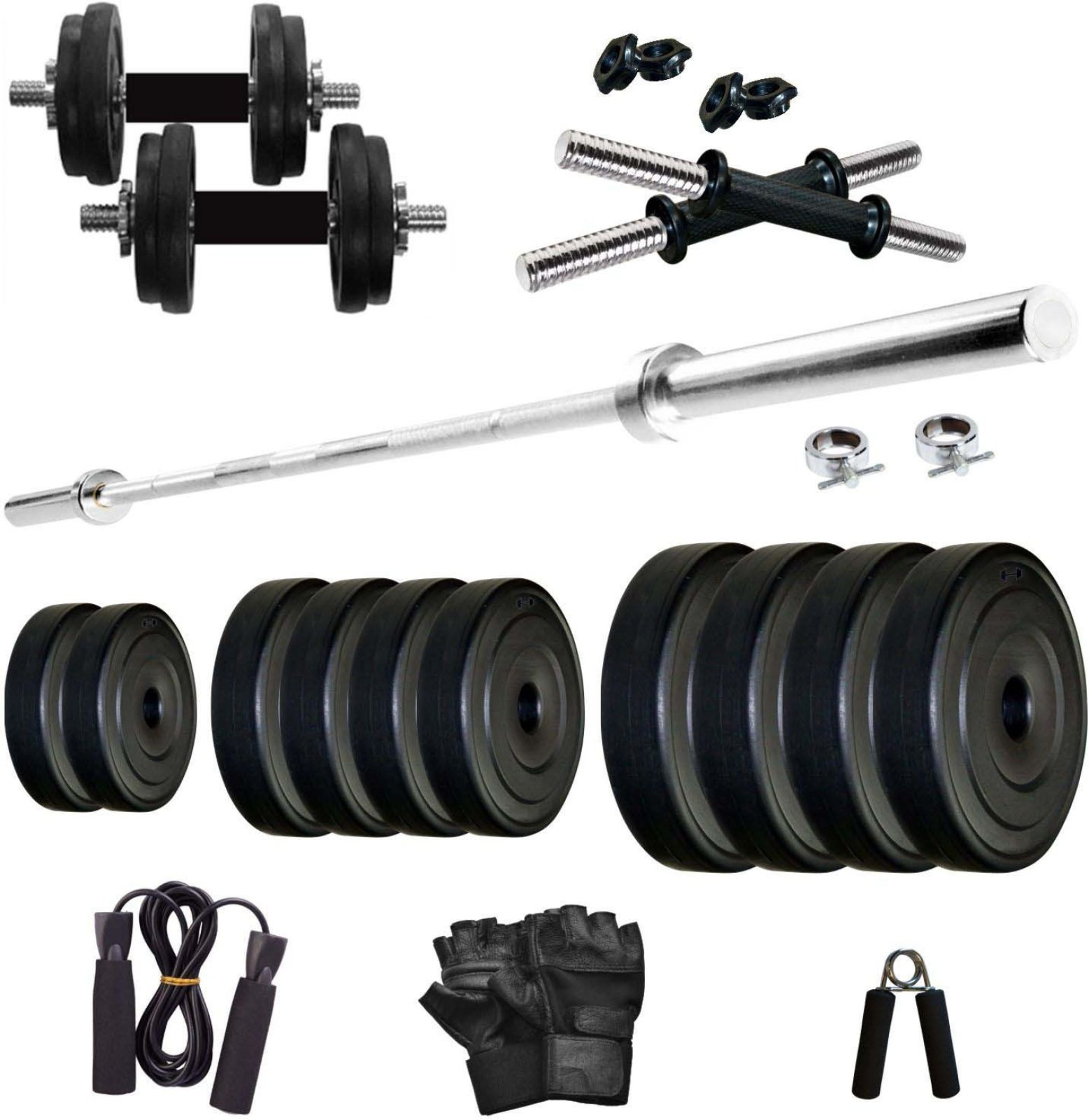 KRX PVC 20 KG COMBO 9 WB Home Gym Kit