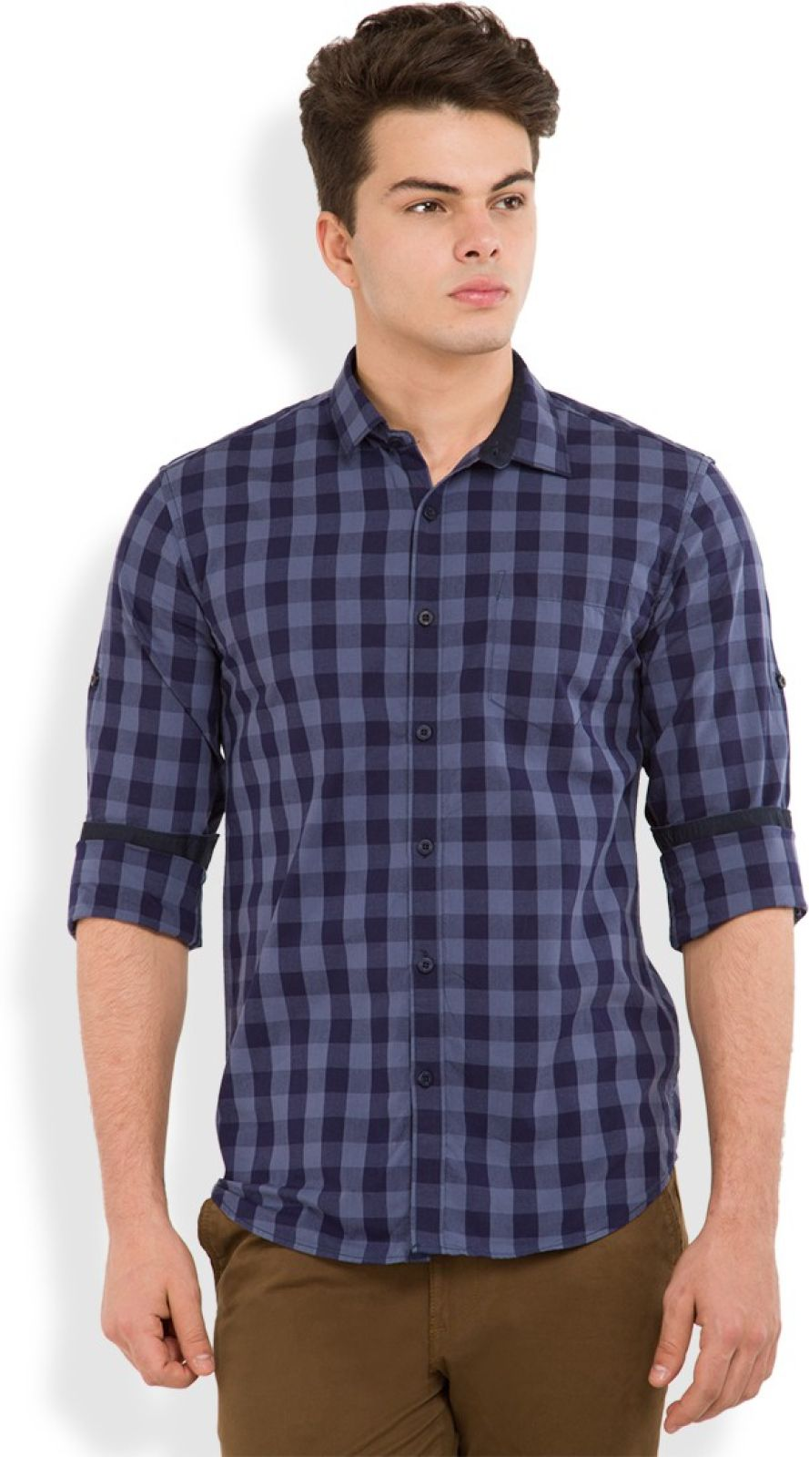 Highlander Mens Checkered Casual Regular Shirt
