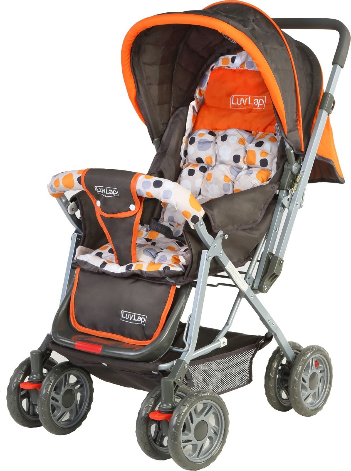 LuvLap Sunshine Baby Stroller (3, Orange)