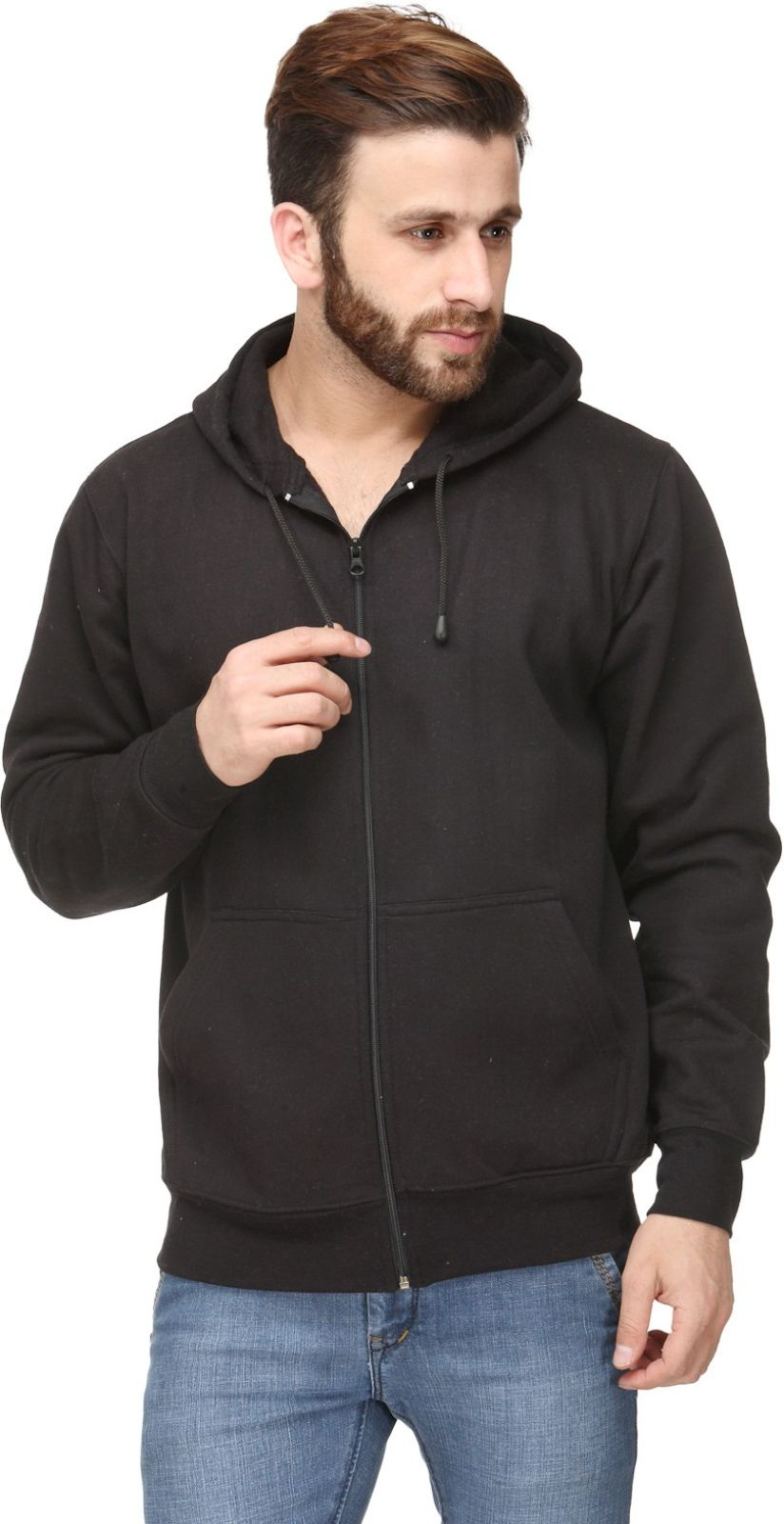 Scott International Full Sleeve Solid Mens Sweatshirt
