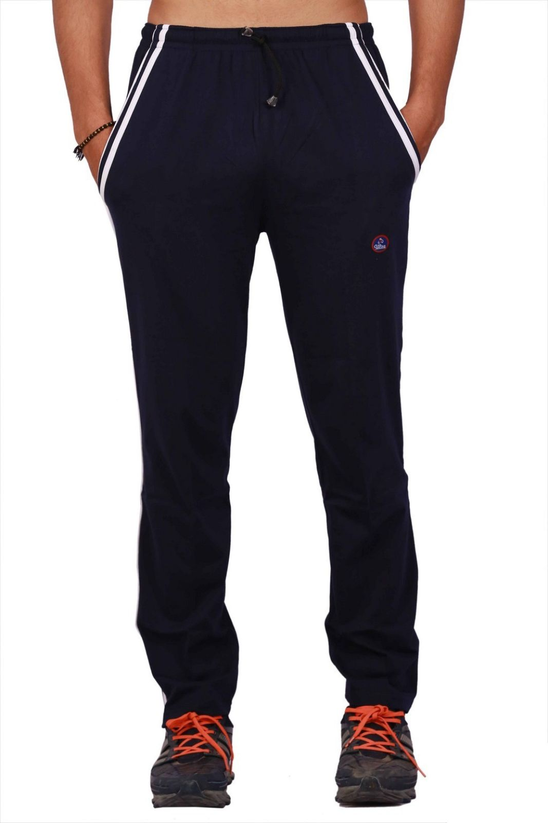 Vimal Solid Mens Dark Blue Track Pants