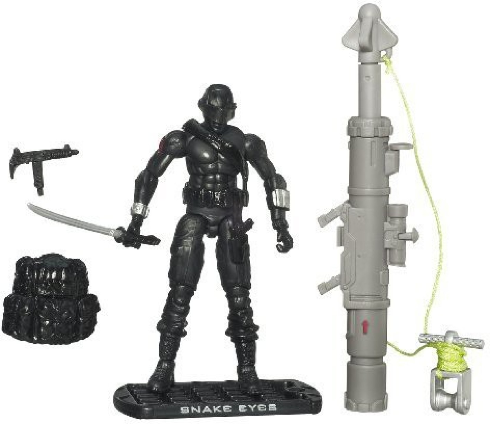 GI Joe Movie: Rise of Cobra 3 3/4 Action Figure Snake Eyes Ninja