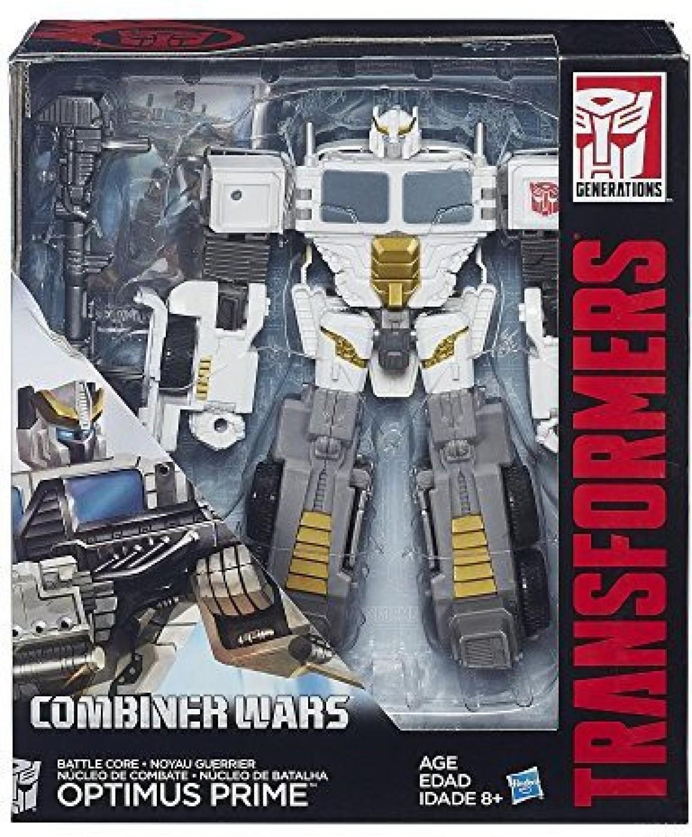 Optimus Prime Figure Transformers Generations Wars Combiner Class Robots boy Toy