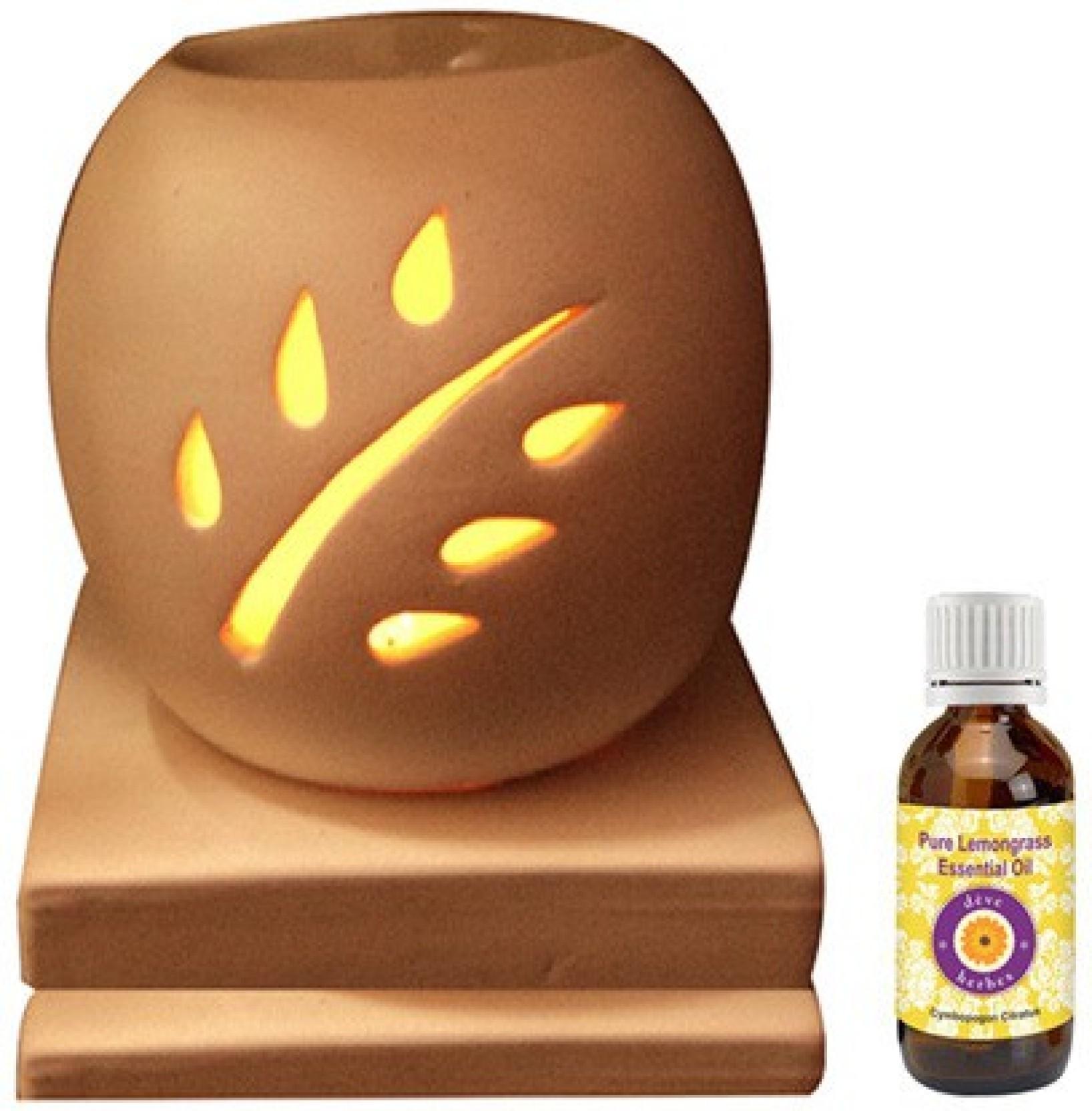 Deve Herbes Lemongrass Oil Aroma Oil Diffuser Set Price in India