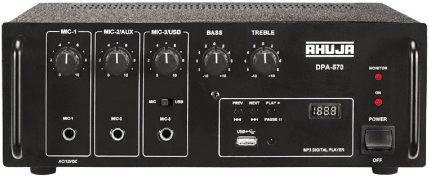 Ahuja Dpa 570 50 W Av Power Amplifier Price In India Buy 58 Audio Add To Cart