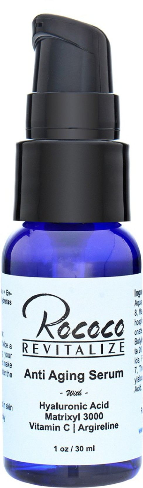 Rococo Anti Aging Serum Hyaluronic Acid Matrixyl 3000 Vitamin C