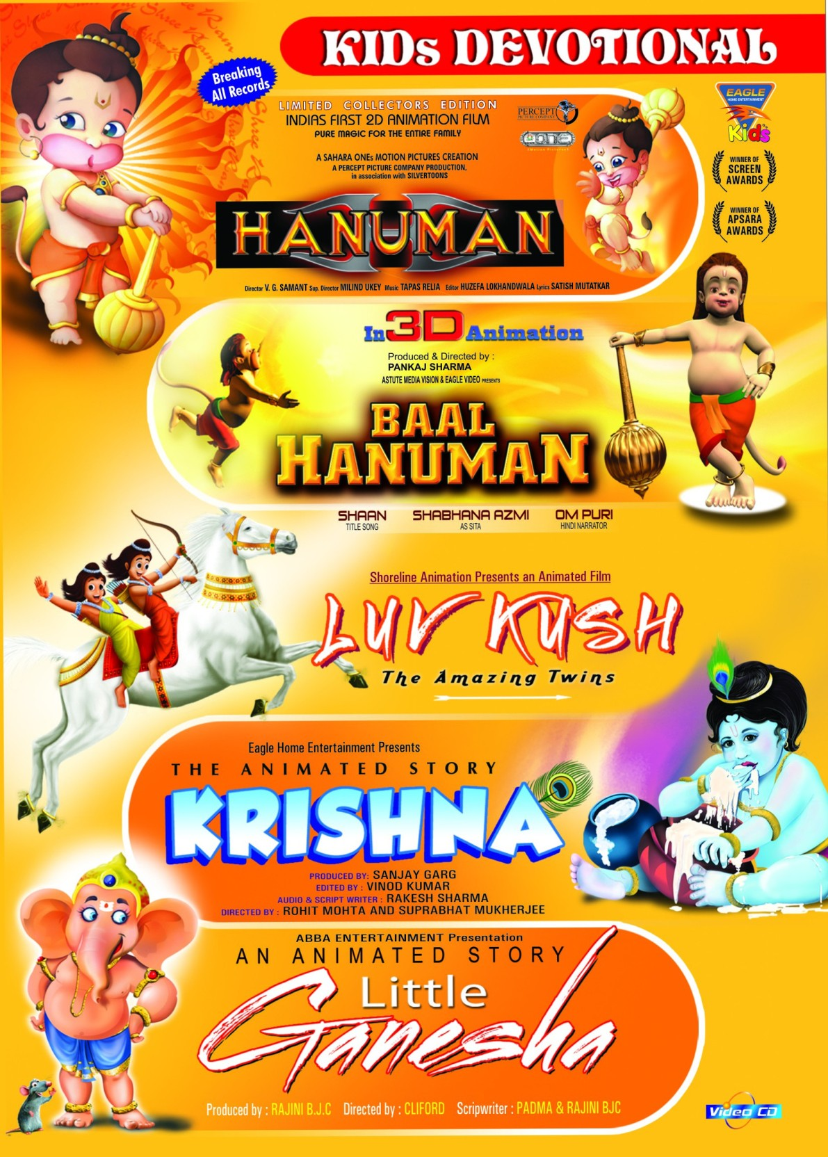 Kids Devotional - Hanuman/Baal Hanuman/Luv Kush/Krishna/Little