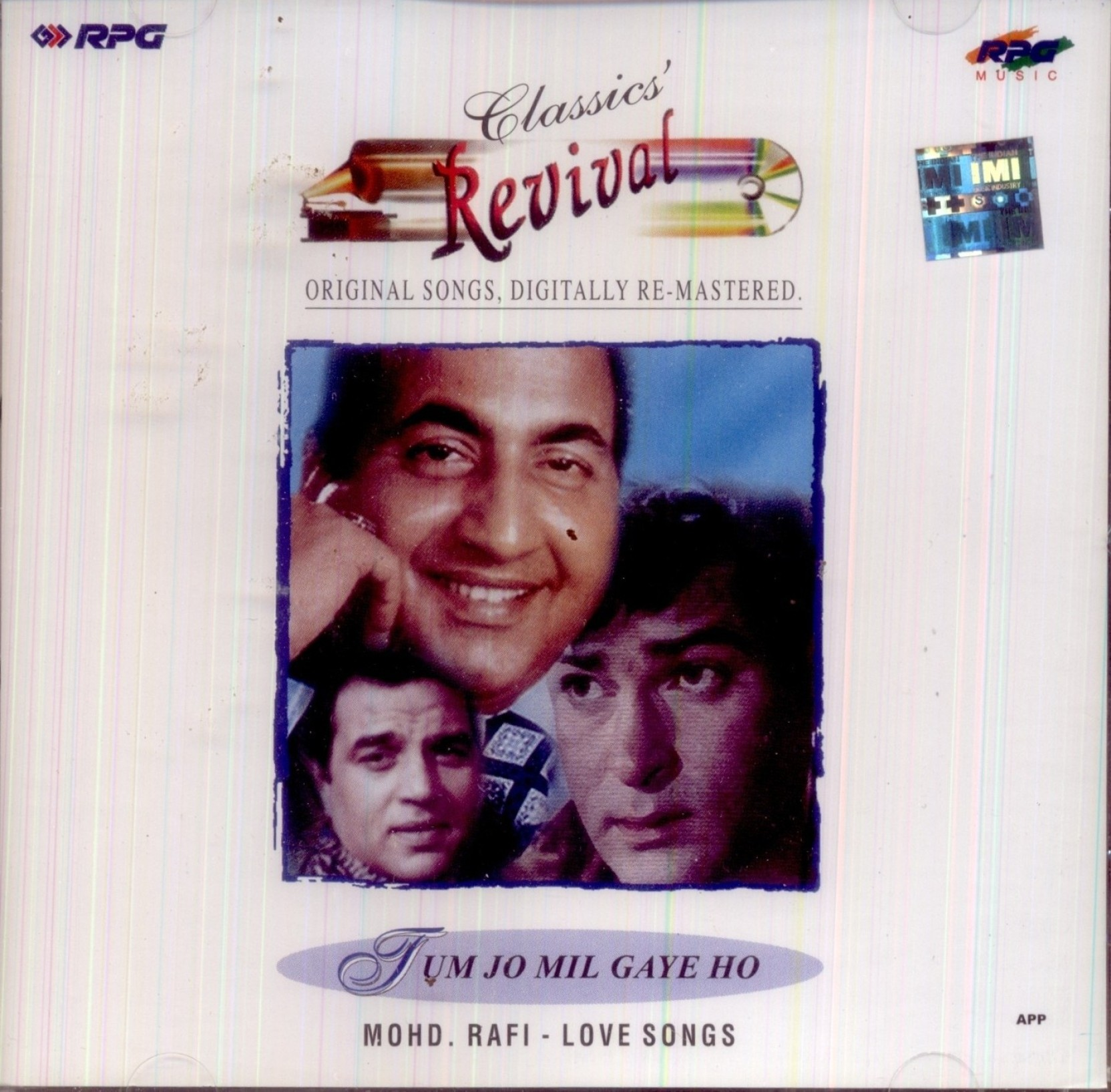 Tum Jo Mil Gaye Ho - Mohd Rafi - Love Songs Audio CD