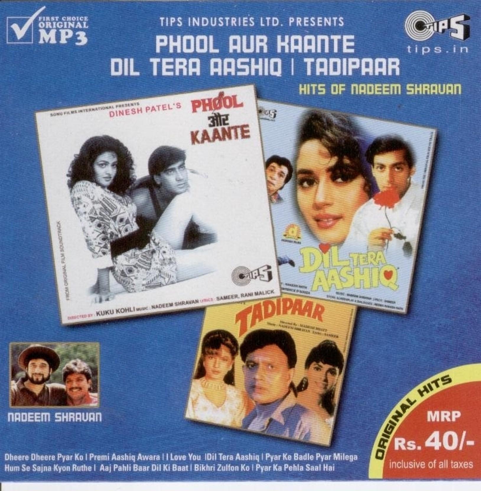 Bepanah Pyar Hai Tumse Title Song Pagalworld Download: Phool Aur Kaante / Dil Tera Aashiq / Tadipaar Music MP3