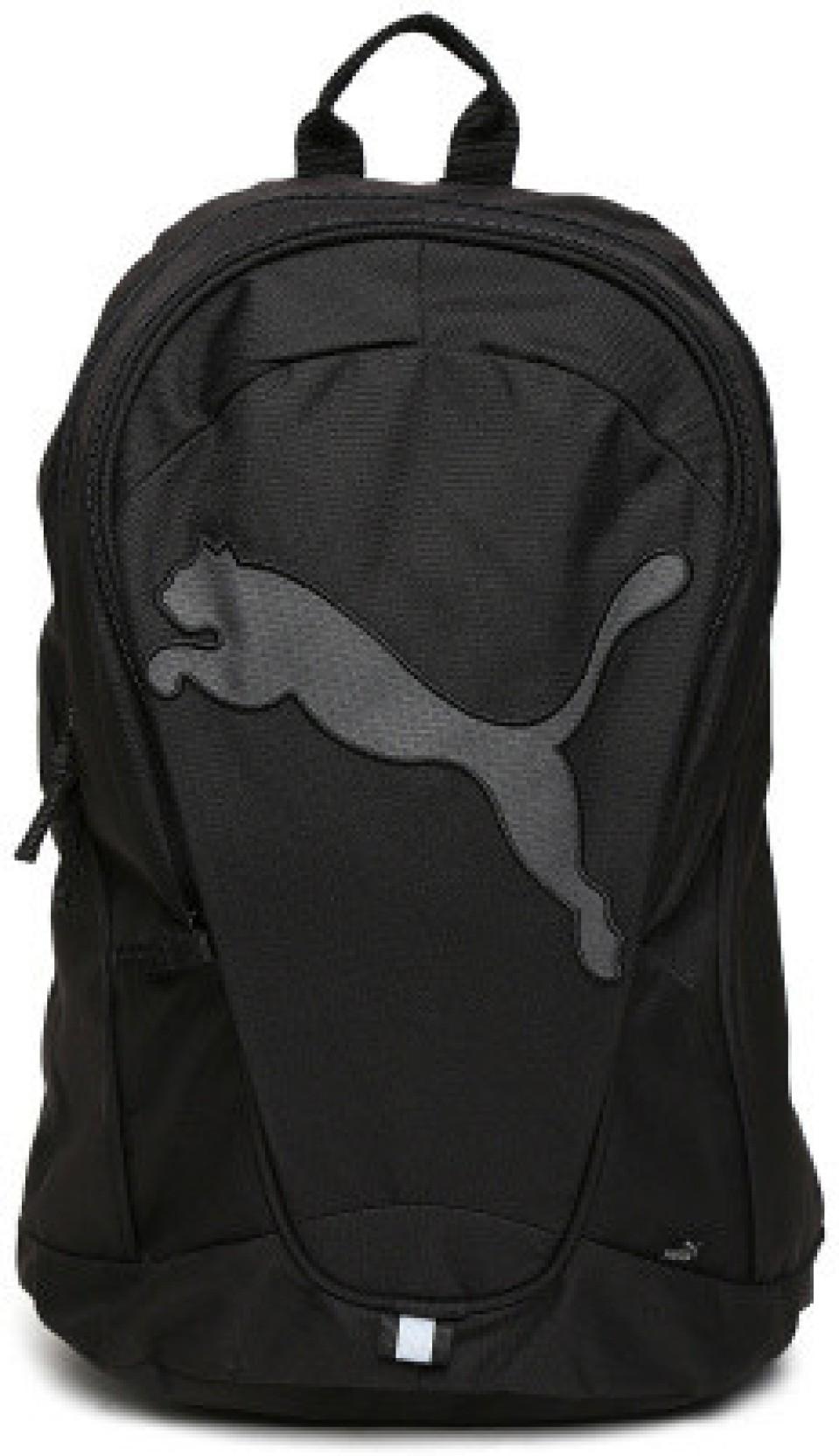 0470143fd2fa Puma 6914101 Medium Backpack Black Dark Shadow - Price in India ...
