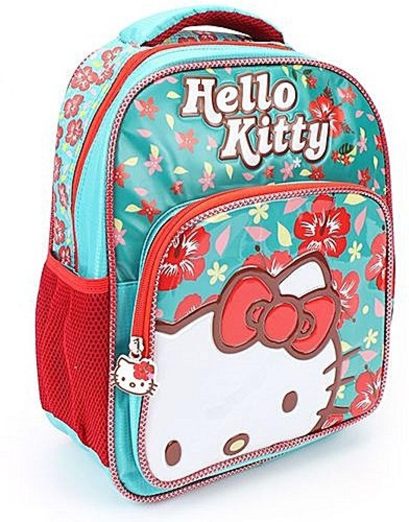 Hello Kitty Flower Bag School Bag (Blue 0dcdf25ad1151
