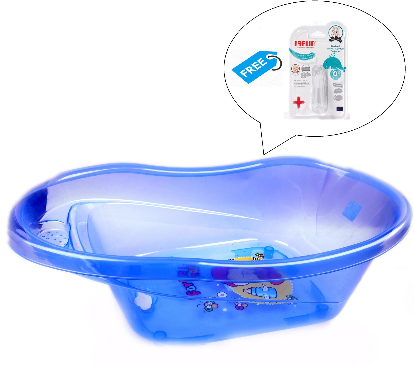 Farlin Baby Angel Bath Tub With Finger Type Toothbrush Price in ...