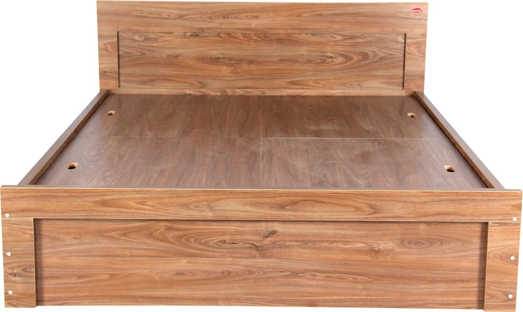 Kurlon sturdy engineered wood king bed finish color walnut