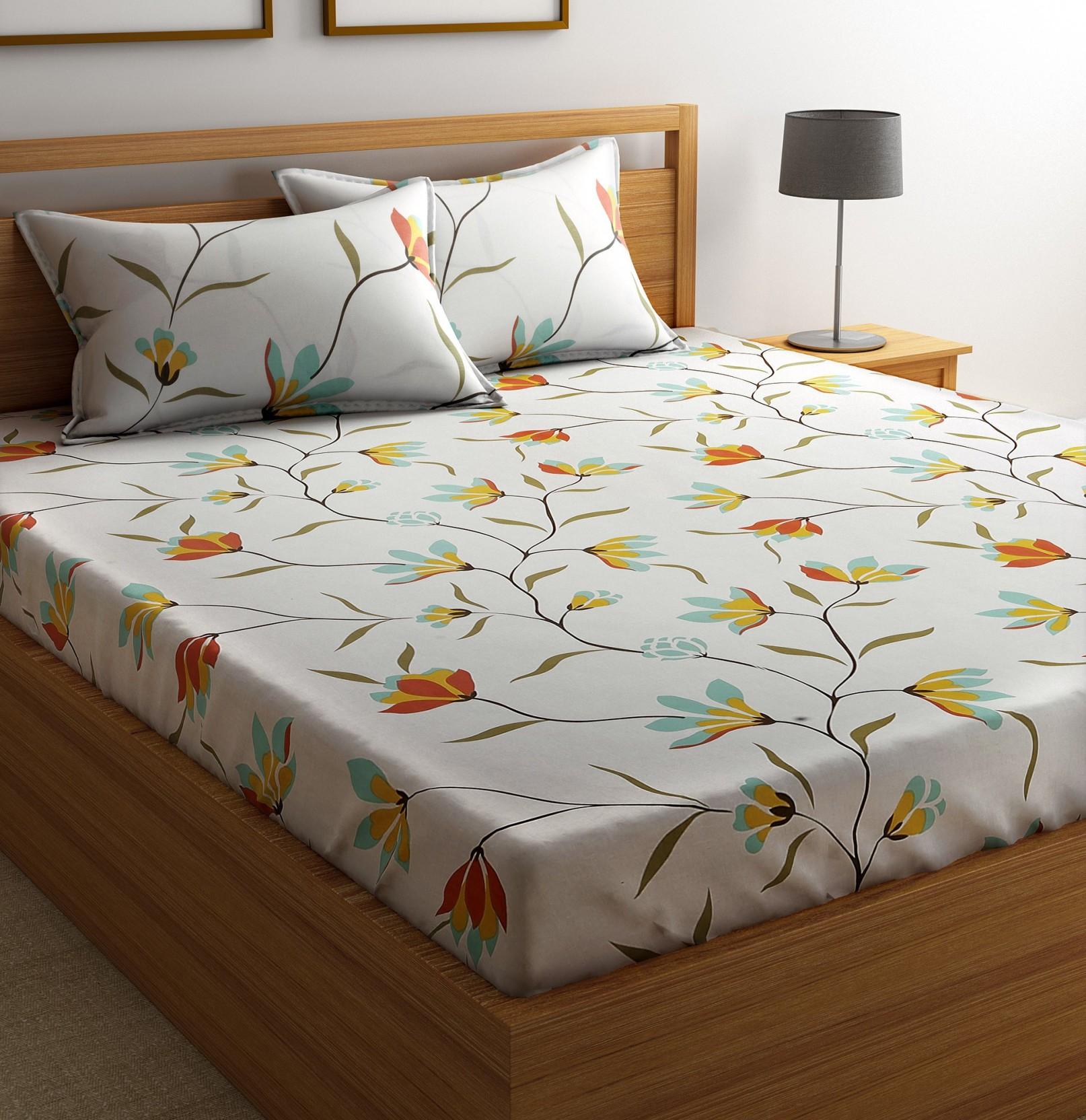 Best Cotton Sheets Flipkart Smartbuy Cotton Floral Double Bedsheet Buy