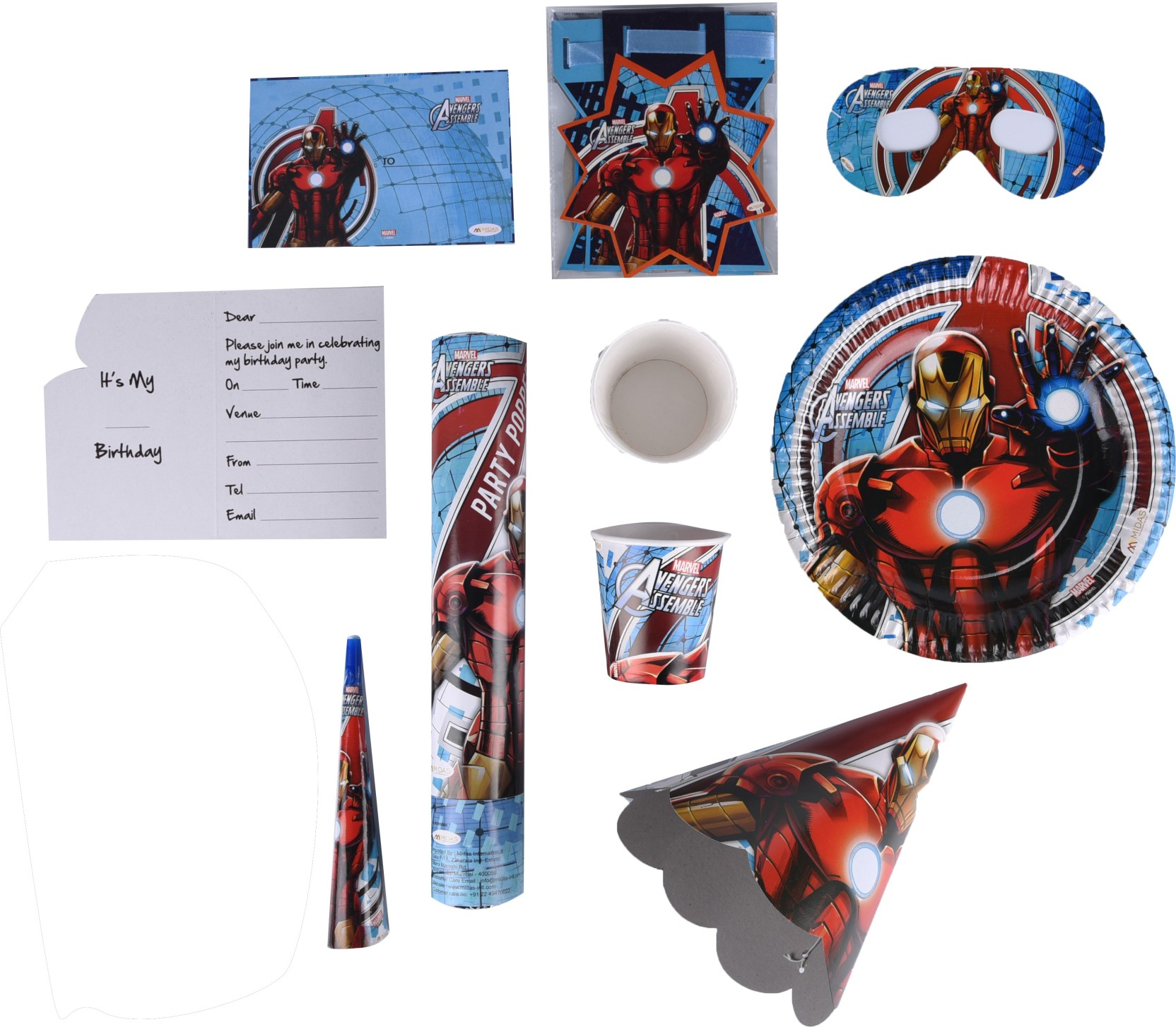 Marvel Iron Man Birthday Combo Kit Price in India - Buy Marvel Iron ...