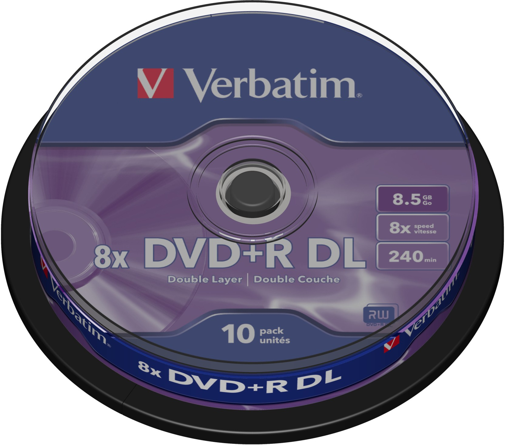 Verbatim Dvd R Dl 8 5gb 10 Pack Spindle Verbatim