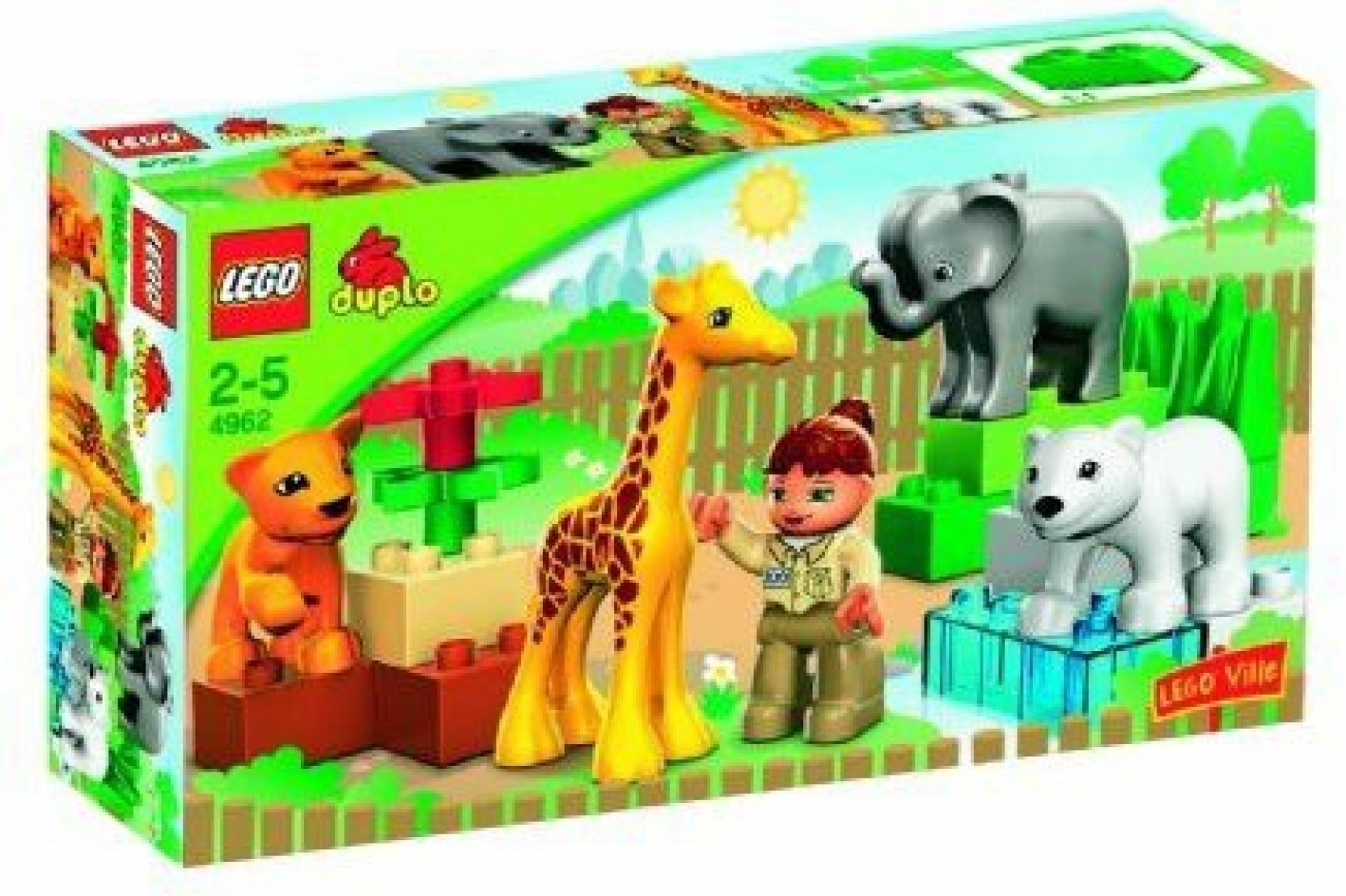 Lego 18-Piece Set Includes Animals Zoo Keeper And Large ...