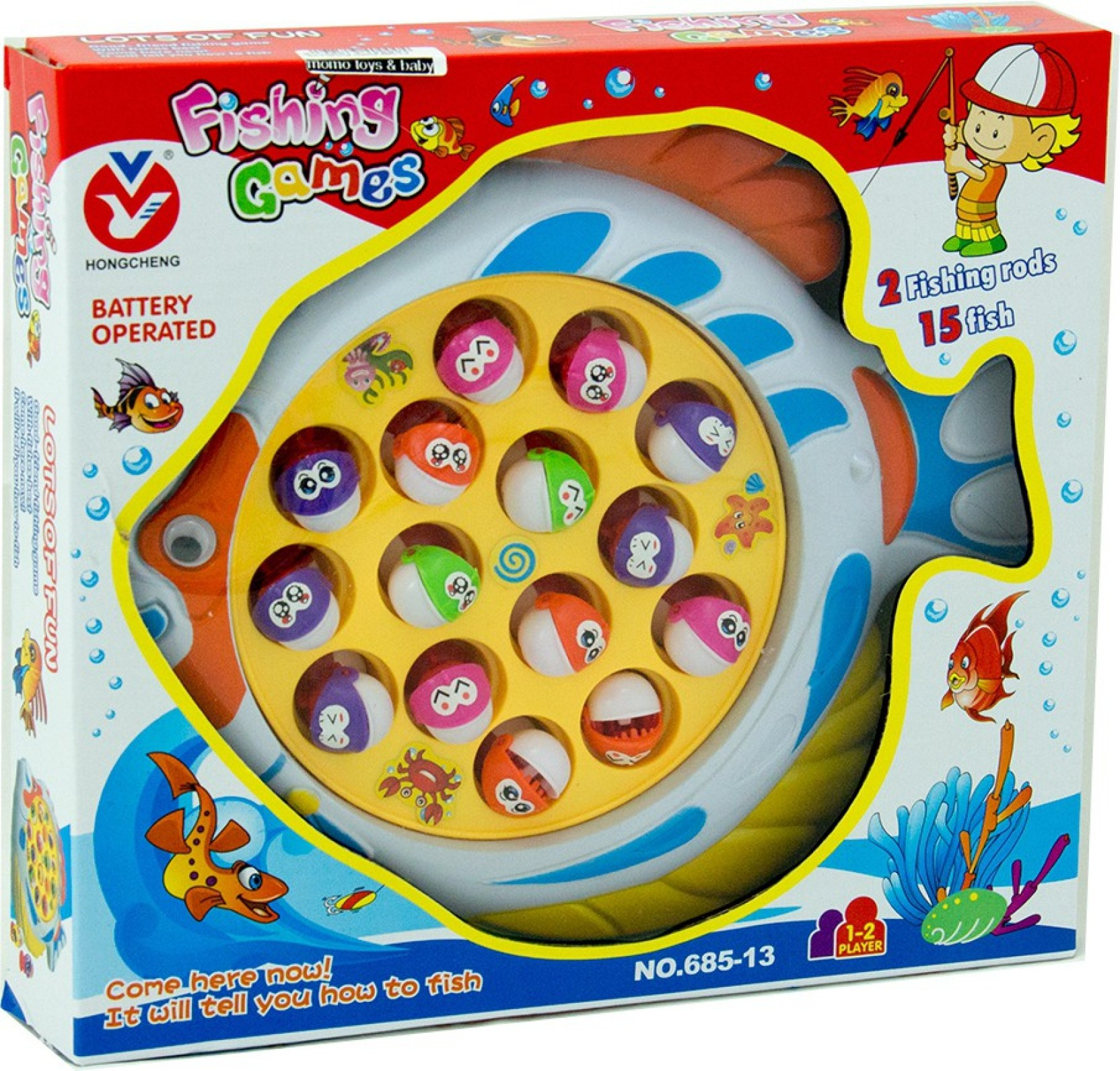 Fishing Game Toy : Lavidi lets go fishing magnetic game for kids
